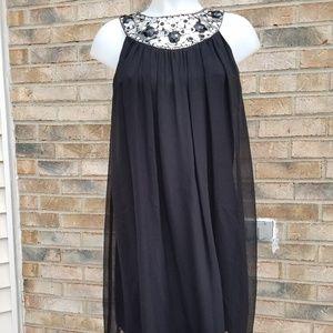Maggy London Black Cocktail Dress Sz 4